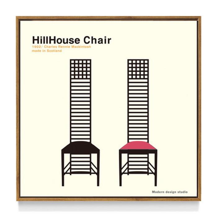 アートフレーム やすかわ としあき ND Concept Frame T. Yasukawa HillHouse Chair 500x500x30mm ITY-60922 bic-6942271s1送料無料 北欧 モダン 家具 インテリア ナチュラル テイスト 新生活 オススメ おしゃれ 後払い 雑貨