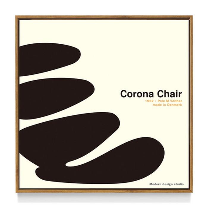 アートフレーム やすかわ としあき ND Concept Frame T. Yasukawa Corona Chair 500x500x30mm ITY-60925 bic-6942274s1送料無料 北欧 モダン 家具 インテリア ナチュラル テイスト 新生活 オススメ おしゃれ 後払い 雑貨