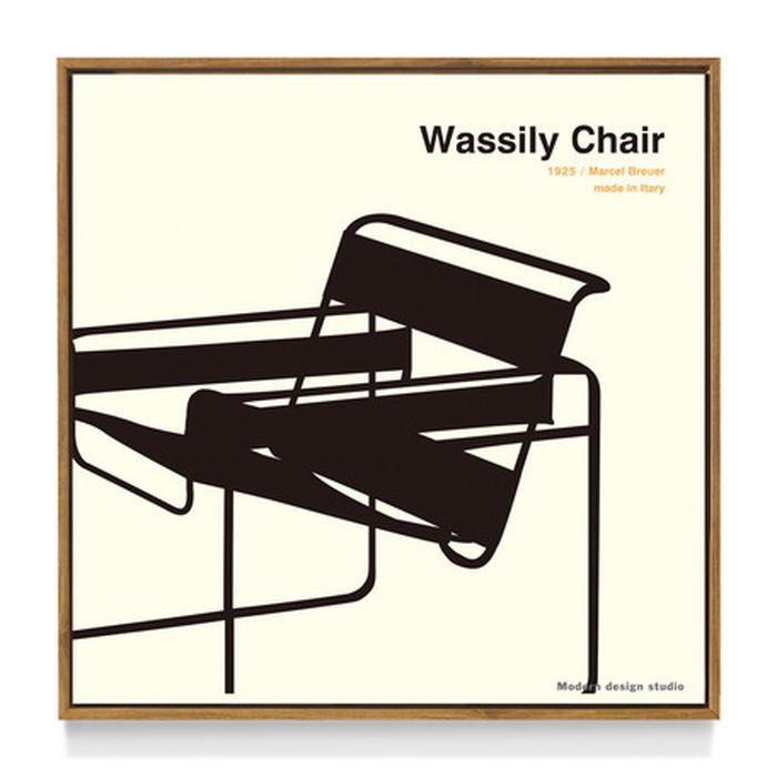 アートフレーム やすかわ としあき ND Concept Frame T. Yasukawa Wassily Chair 500x500x30mm ITY-60926 bic-6942275s1送料無料 北欧 モダン 家具 インテリア ナチュラル テイスト 新生活 オススメ おしゃれ 後払い 雑貨