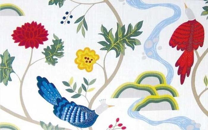 ファブリック 北欧アート scandinavian fabric panel boras Birdland WH-L 900x550x30mm ISF-12409 bic-6942320s1送料無料 北欧 モダン 家具 インテリア ナチュラル テイスト 新生活 オススメ おしゃれ 後払い 雑貨