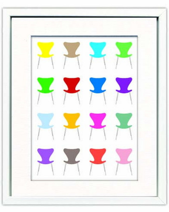 Modern おしゃれ やすかわ Design 新生活 家具 Seven ITY-14289 としあき アートフレーム 北欧 Studio -1 Chair モダン テイスト colorful 雑貨 ナチュラル インテリア 430x530x30mm 後払い bic-6942471s1送料無料 オススメ
