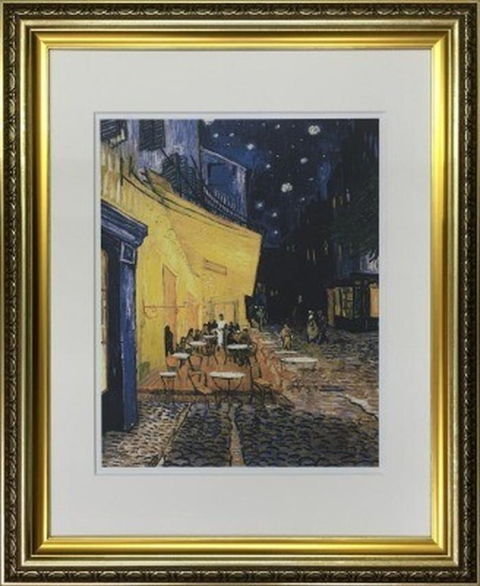 アートフレーム 名画 ヴィンセント・ファン・ゴッホ Vincent van Gogh 夜のカフェテラス 490x595x25mm IFA-60902 bic-6942546s1送料無料 北欧 モダン 家具 インテリア ナチュラル テイスト 新生活 オススメ おしゃれ 後払い 雑貨