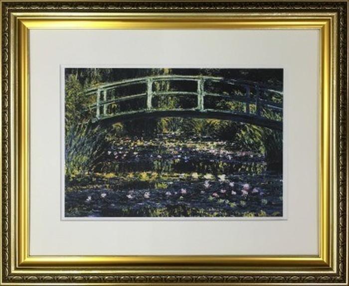 アートフレーム 名画 クロード・モネ Claude Monet 睡蓮の池と日本の橋 490x595x25mm IFA-60905 bic-6942549s1送料無料 北欧 モダン 家具 インテリア ナチュラル テイスト 新生活 オススメ おしゃれ 後払い 雑貨