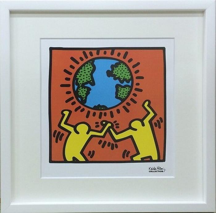 ポップアート キースへリング Keith Haring Untitled 430x430x30mm IKH-60566 bic-6943019s1送料無料 北欧 モダン 家具 インテリア ナチュラル テイスト 新生活 オススメ おしゃれ 後払い 雑貨