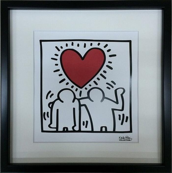 ポップアート キースへリング Keith Haring Untitled 430x430x30mm IKH-60567 bic-6943020s1送料無料 北欧 モダン 家具 インテリア ナチュラル テイスト 新生活 オススメ おしゃれ 後払い 雑貨