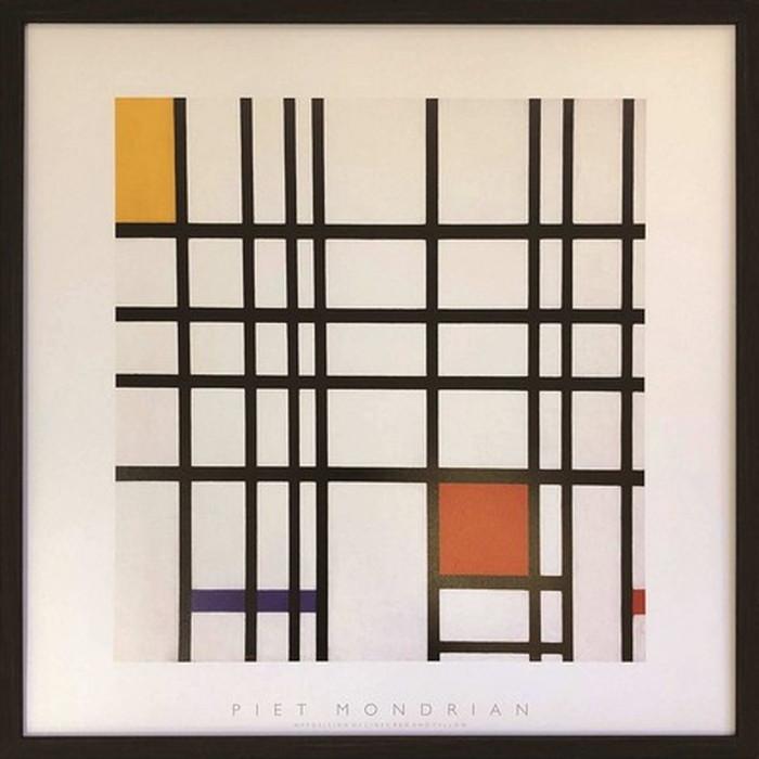 アートフレーム ピエト・モンドリア Piet Mondrian Opposition of Lines;Red and Yellow 520x520x35mm IPM-61649 bic-6943391s1送料無料 北欧 モダン 家具 インテリア ナチュラル テイスト 新生活 オススメ おしゃれ 後払い 雑貨
