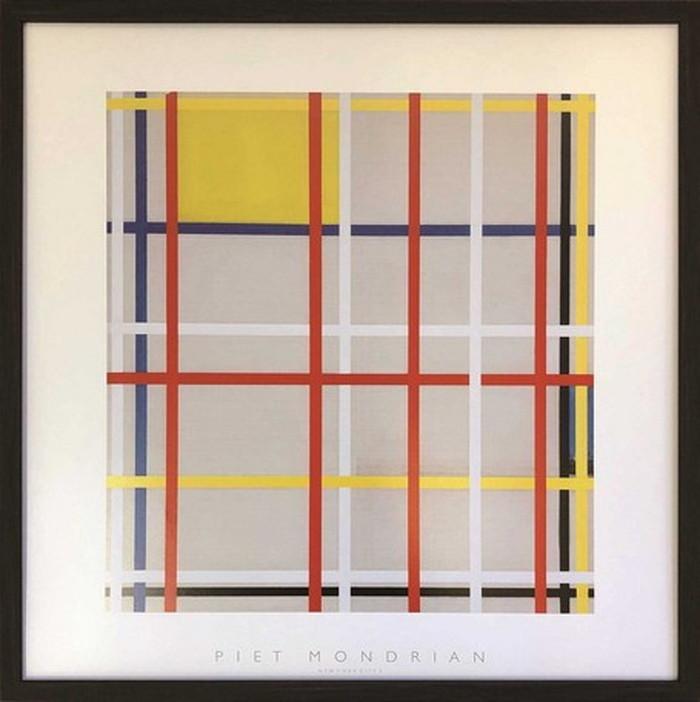 アートフレーム ピエト・モンドリア Piet Mondrian New York City 3 520x520x35mm IPM-61650 bic-6943392s1送料無料 北欧 モダン 家具 インテリア ナチュラル テイスト 新生活 オススメ おしゃれ 後払い 雑貨
