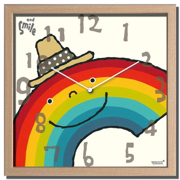 アーティストクロック Artist Clock 武内 祐人 虹 320x320x55mm CAC-52640 bic-7074693s1送料無料 北欧 モダン 家具 インテリア ナチュラル テイスト 新生活 オススメ おしゃれ 後払い クロック 掛け 置き