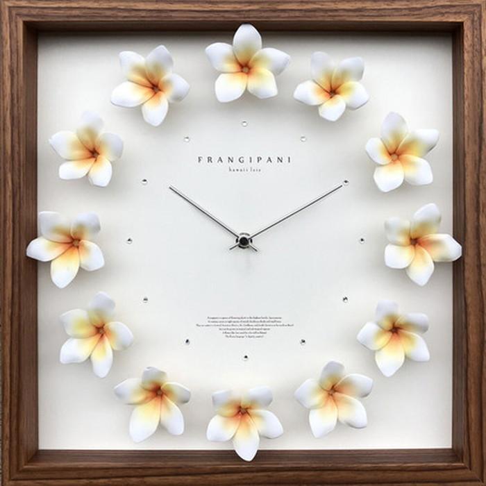 プルメリアクロック イエロー Plumeria clock 320x320x55mm CPC-52644 bic-7074701s1送料無料 北欧 モダン 家具 インテリア ナチュラル テイスト 新生活 オススメ おしゃれ 後払い クロック 掛け 置き