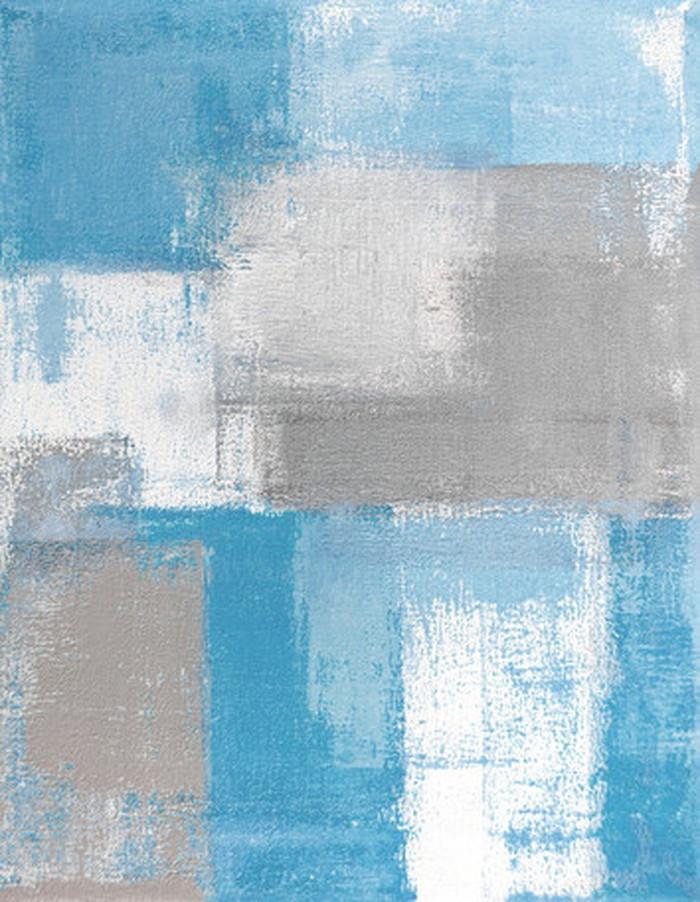 キャンバスパネル Art Panel Grey and Blue Abstract Art Painting 600x800x40mm IAP-52782 bic-7184379s1送料無料 北欧 モダン 家具 インテリア ナチュラル テイスト 新生活 オススメ おしゃれ 後払い 雑貨