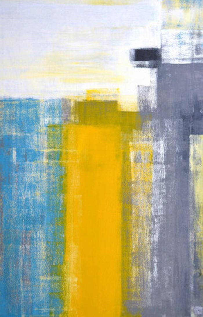 キャンバスパネル Art Panel Teal and Yellow Abstract Art Painting 530x800x40mm IAP-52781 bic-7184381s1送料無料 北欧 モダン 家具 インテリア ナチュラル テイスト 新生活 オススメ おしゃれ 後払い 雑貨