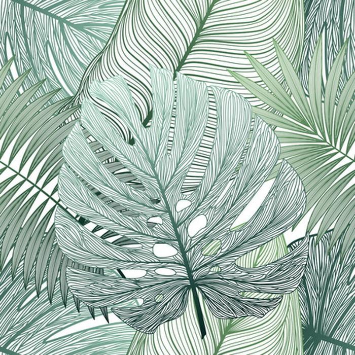 キャンバスパネル Art Panel Seamless pattern tropical leaf paim 800x800x40mm IAP-52790 bic-7184399s1送料無料 北欧 モダン 家具 インテリア ナチュラル テイスト 新生活 オススメ おしゃれ 後払い 雑貨
