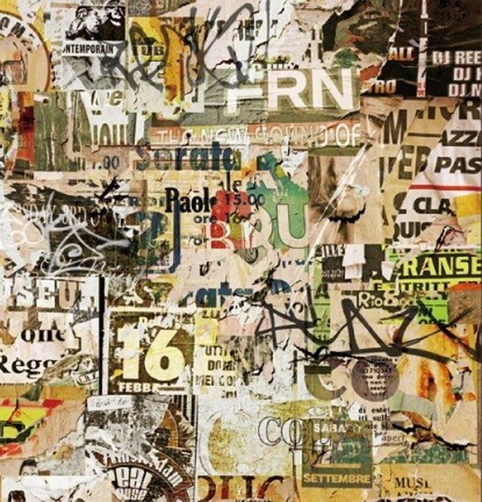 キャンバスパネル Art Panel Binkski Grunge Background with Old Torn Posters 600x600x40mm IAP-52115 bic-7184406s1送料無料 北欧 モダン 家具 インテリア ナチュラル テイスト 新生活 オススメ おしゃれ 後払い 雑貨