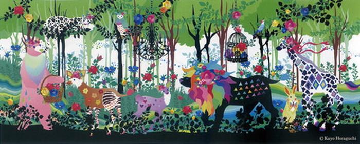 キャンバスパネル Art Panel Kayo Horaguchi Promenade 1000x450x40mm ZKH-52552 bic-7184413s1送料無料 北欧 モダン 家具 インテリア ナチュラル テイスト 新生活 オススメ おしゃれ 後払い 雑貨