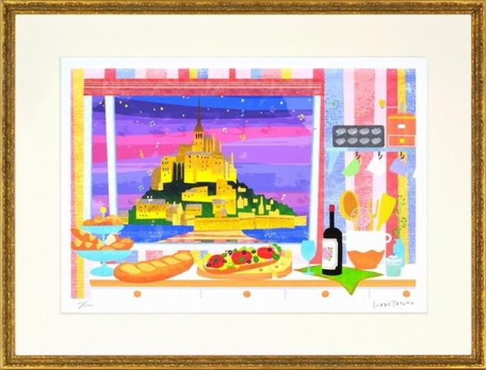アートフレーム はり たつお フランスの食卓 632x480x23mm ZTH-61701 bic-7193920s1送料無料 北欧 モダン 家具 インテリア ナチュラル テイスト 新生活 オススメ おしゃれ 後払い 雑貨