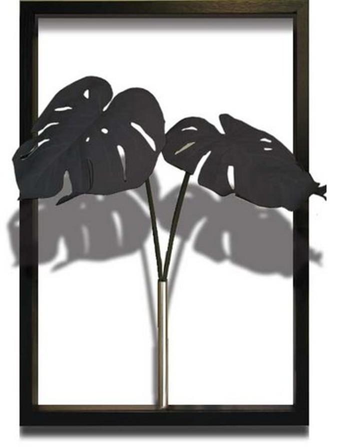 アートフレーム F-style Tuinie Monstera Deliciosa Black 425x625x300mm ITN-51105 bic-7406647s1送料無料 北欧 モダン 家具 インテリア ナチュラル テイスト 新生活 オススメ おしゃれ 後払い 雑貨