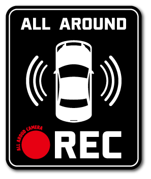 ゼネラルステッカー企画販売 初回限定 ドラレコステッカー 録画中 返品送料無料 ALL AROUND グッズ ドライブレコーダー ステッカー DRS018 REC
