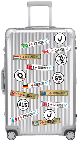 Footprints stickers /FP-012 Hong Kong S.A.R. HONG KONG suitcase stickers case too!
