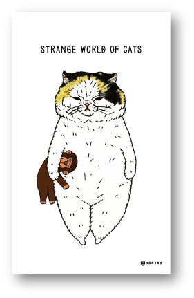 ゼネラルステッカー企画販売 世にも不思議な猫世界 メッセージカード 優先配送 20枚入 うららたん KORIRI LMC001 ステッカー グッズ 今季も再入荷
