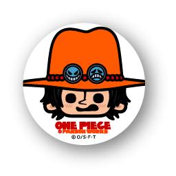 楽天市場 One Piece ワンピース パンソンワークスコラボ缶バッジ Opc10 エース ゼネラルステッカー
