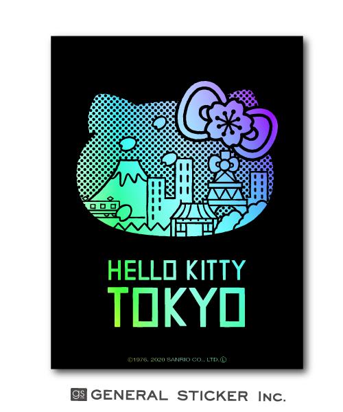 ハローキティ×TOKYO ハローキティ TOKYO 在庫処分 東京 ホログラム 黒 ステッカー イラスト お土産 サンリオ LCS1000 ライセンス商品 新商品 新型 キャラクター グッズ gs インバウンド
