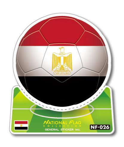 サッカーボールステッカー エジプト EGYPT NF026 スポーツステッカー ワールドカップ