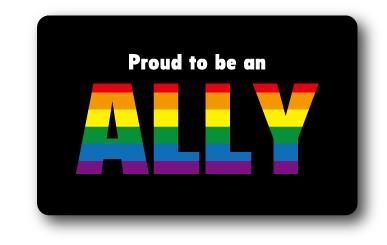 ゼネラルステッカー オリジナル商品 レインボー 安売り ステッカー プラウド トゥー ビー アライ Proud 応援 to ALLY スーパーSALE セール期間限定 RB002 グッズ an LGBT be