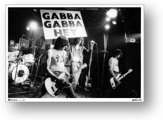 ロックシリーズ セール開催中最短即日発送 専門店 ミニポス B5サイズミニポスター Ramones ラモーンズ POS052