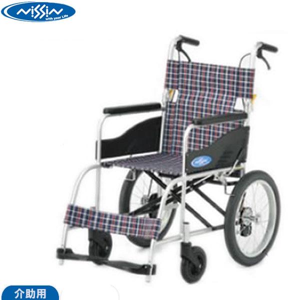 日進医療器介助用車椅子NEO-2 ネオツー背折れ機能 介助ブレーキ付 ノーパンクタイヤ車いす 車イス【送料無料発送】【代引き不可】