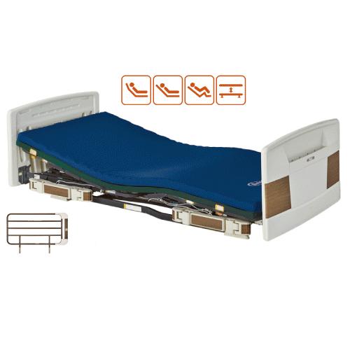 Platz プラッツ Rafioシリーズ ラフィオ樹脂(木目調)ボード2モーター連動ハイバックサポート機能付ポジショニングベッド 電動ベッド 介護ベッドマットレス サイドレール オプションP110-21ACR P110-21ACS P110-21ACL【代引き不可】
