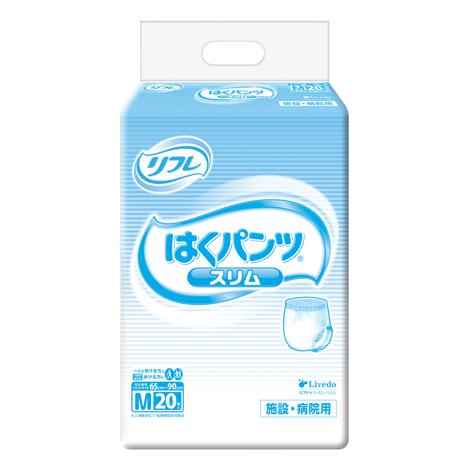 [直送品]リブドゥ 業務用 はくパンツスリムタイプ ケース Mサイズ 20枚/6袋 (W65~90cm)[直送品以外と同梱不可]
