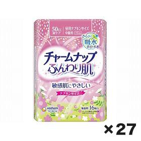 ユニチャーム チャ-ムナップふんわり肌中量用 1ケース(16枚×27個)