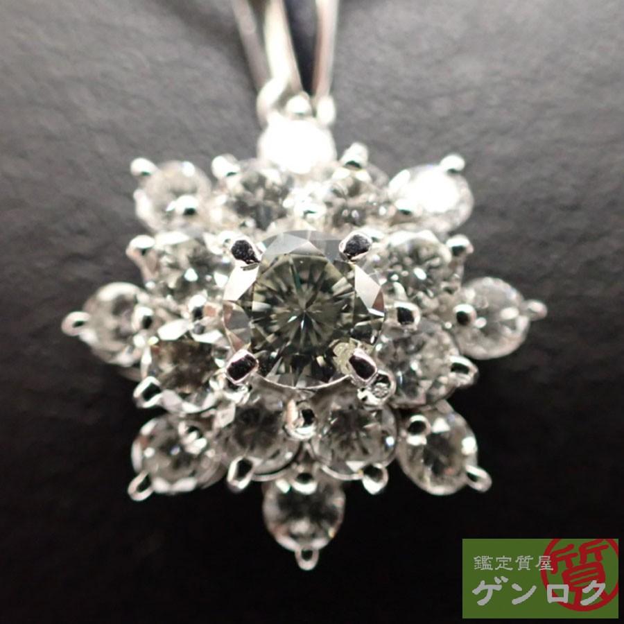 【中古】タサキ ダイヤモンド Pt900プラチナ ネックレス TASAKI【質屋】【代引き手数料無料】