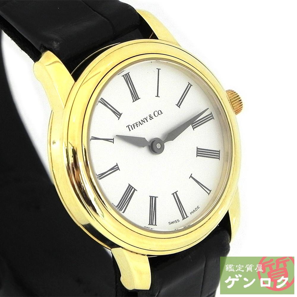 【中古】ティファニー マークラウンド 腕時計 17042548 750YG TIFFANY&Co.【質屋】【代引き手数料無料】