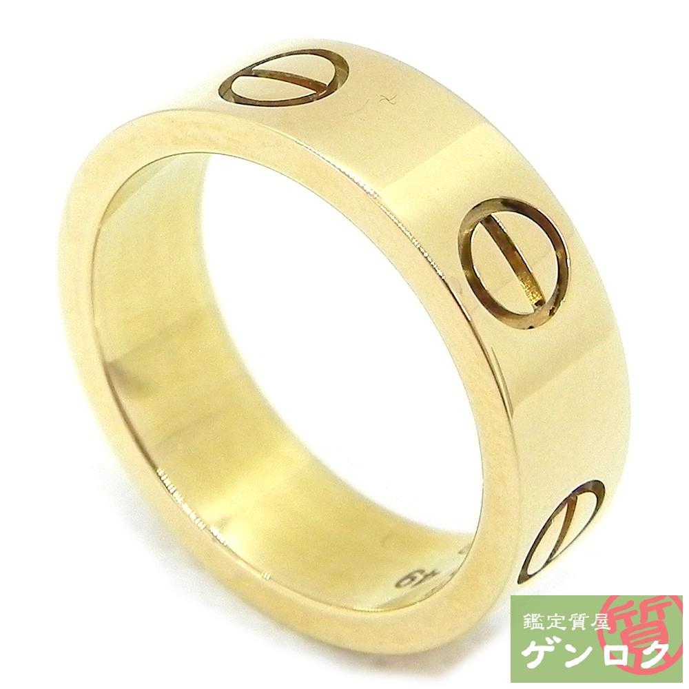 【中古】カルティエ ラブリング ビスモチーフ YG イエローゴールド ゴールド リング 指輪 CARTIER【質屋】【代引き手数料無料】