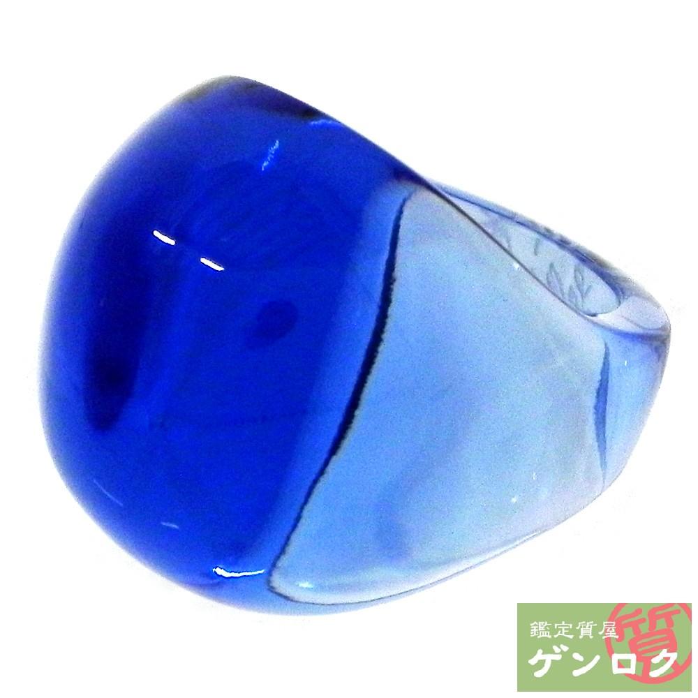 【中古】ラリック クリスタル カボションリング カップフェラブルー リング 指輪 LALIOUE【質屋】【代引き手数料無料】