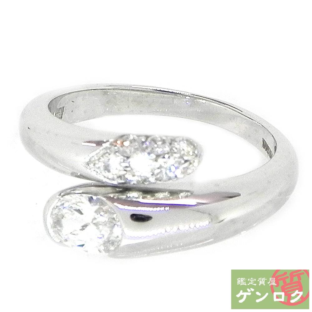 【中古】ブルガリ アストレア ダイヤモンド ダイヤ リング 指輪 K18ホワイトゴールド K18WG BVLGARI【質屋】【代引き手数料無料】