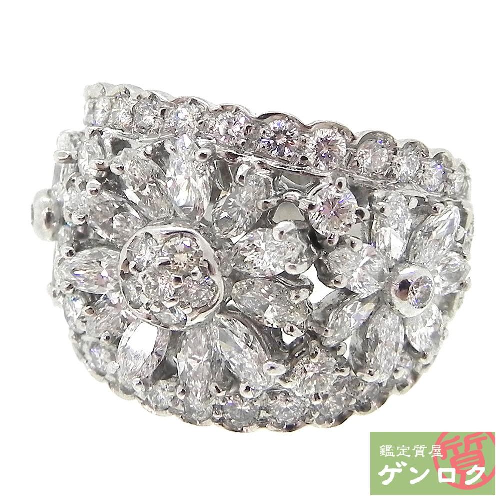 【中古】ポンテヴェキオ ダイヤ ダイヤモンド K18WG ホワイトゴールド リング 指輪 Ponte Vecchio【質屋】【代引き手数料無料】