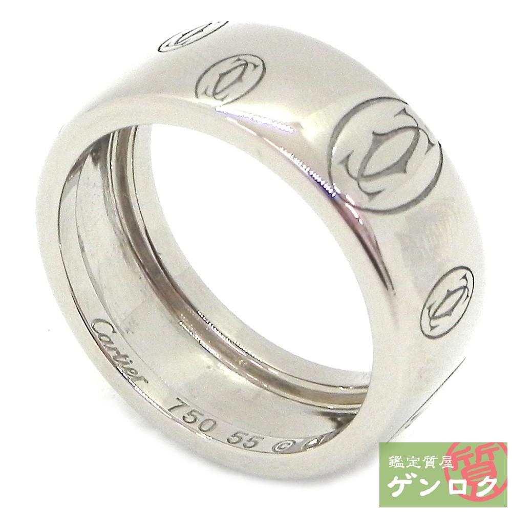 【中古】カルティエ ハッピーバースデイLM K18ホワイトゴールド リング 指輪 CARTIER【質屋】【代引き手数料無料】