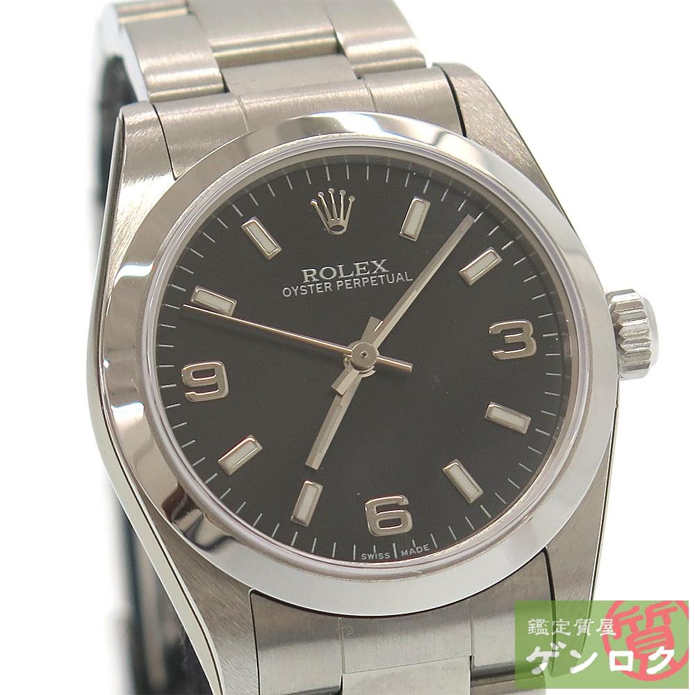 【中古】ロレックス オイスターパーペチュアル 77080 Y番 SS 自動巻き ボーイズサイズ 腕時計 メンズ ROLEX【質屋】【代引き手数料無料】