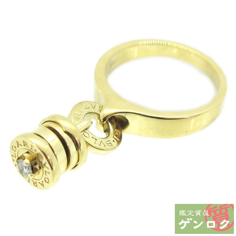【中古】ブルガリ ビーゼロワン エレメント K18イエローゴールド K18YG 750 ダイヤ ダイヤモンド リング 指輪 BVLGARI【質屋】【代引き手数料無料】