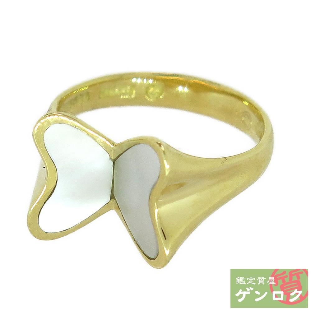 【中古】ティファニー K18 750 蝶モチーフ バタフライ 7号 リング 指輪 TIFFANY&Co.【質屋】【代引き手数料無料】