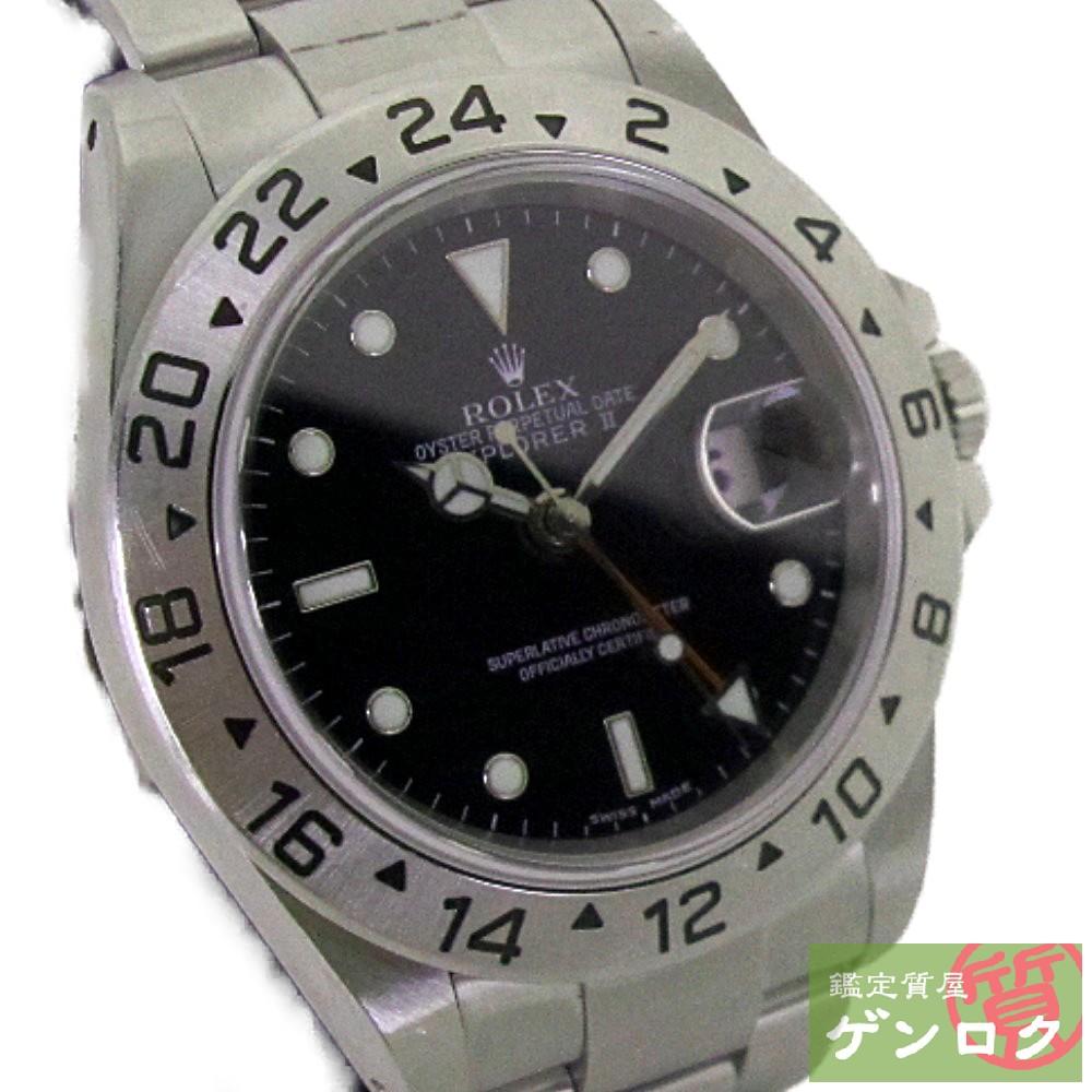 【中古】ロレックス 16570 エクスプローラー オートマ ステンレススチール ブラック シルバー 腕時計 メンズ ROLEX【質屋】【代引き手数料無料】