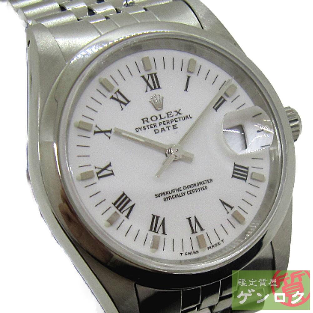 【中古】 ロレックス 15200 オイスターパーペチュアル デイト ステンレススチール ホワイト文字盤 L番 腕時計 ROLEX【質屋】【代引き手数料無料】