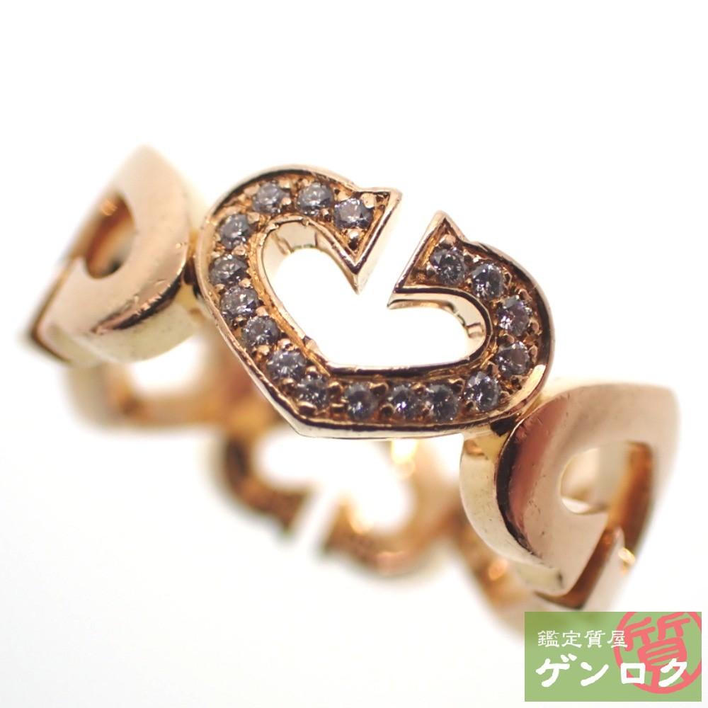 【中古】 カルティエ Cハートリング ダイヤモンド K18PG (750) 13号 #53 ピンクゴールド リング・指輪 CARTIER【質屋】【代引き手数料無料】