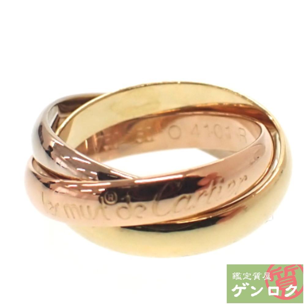 【中古】 カルティエ トリニティ リング K18(750) スリーカラーゴールド #50 10号 三連 指輪 Cartier【質屋】【代引き手数料無料】