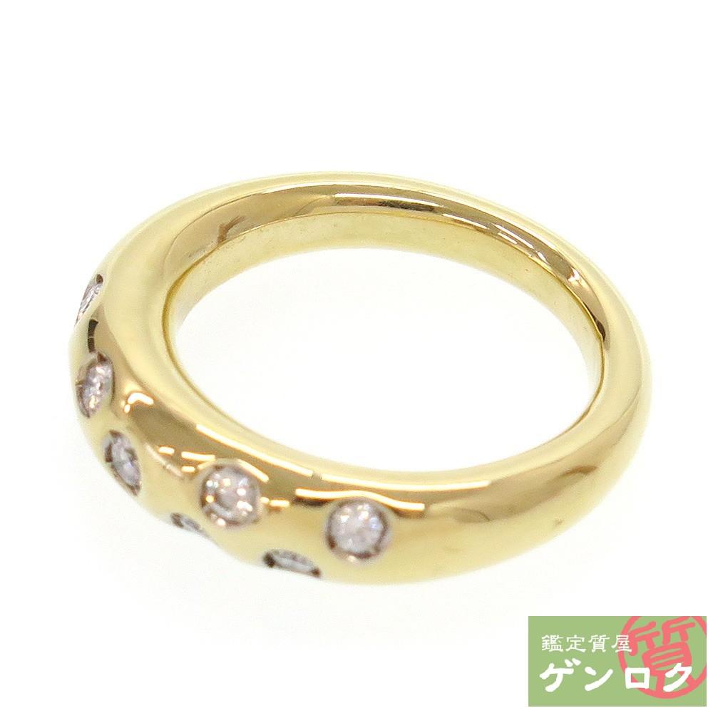 【中古】 ポメラート K18 750 ダイヤモンド ダイヤ リング 指輪 Pomellato【質屋】【代引き手数料無料】