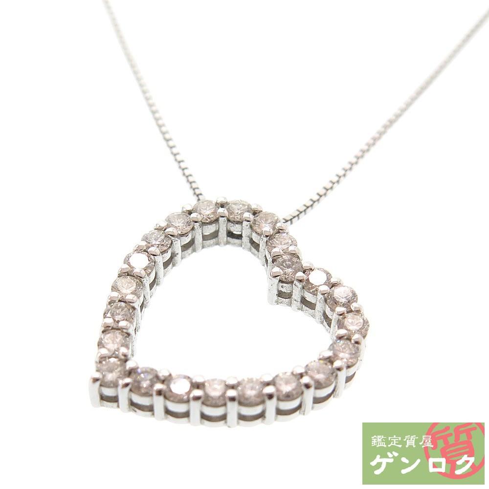 【中古】 グッチダイヤモンド ダイヤ ネックレス ペンダント K18 750 WG ホワイトゴールド GUCCI【質屋】【代引き手数料無料】