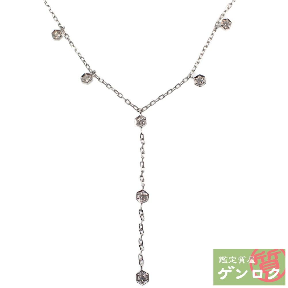 【中古】 ピアジェ ダイヤモンドネックレス K18 (750) WG ダイヤモンド ネックレス PIAGET【質屋】【代引き手数料無料】