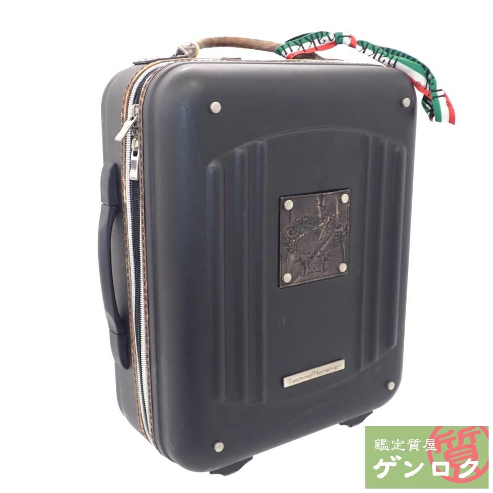 【中古】 オロビアンコ キャリーケース トランク スーツケース ブラック 黒 キャリーバッグ Orobianco【質屋】【代引き手数料無料】